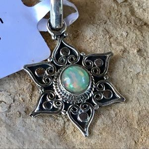NEW Dainty star pendant with Ethiopian opal